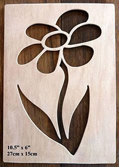 "Beautiful Large Sized Hand Crafted MDF 'Decorative Rose Design' Drawing Template / Stencil (Style 2) - Size: 12"" x 8.5"" Overall (30cm x 21cm)"
