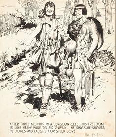 Hal Foster Prince Valiant #267 Sunday Comic Strip Panel Original | Lot #94241 | Heritage Auctions