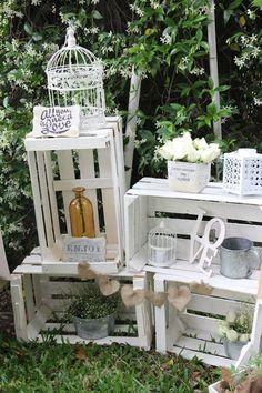Vintage rustic chic wedding ideas: