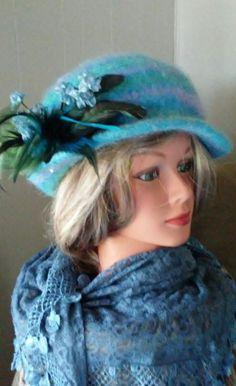 Felted hat I made with ELegant yarn Kaleidescope