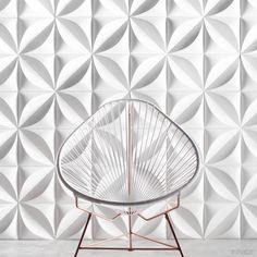Chrysalis Cast Architectural Concrete Tile - White - Inhabit - Inhabit - 2