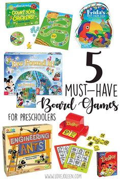 Love, Joleen: 5 Must-Have Board Games for Preschoolers //  Homeschool ; Preschool ; Gameschooling: