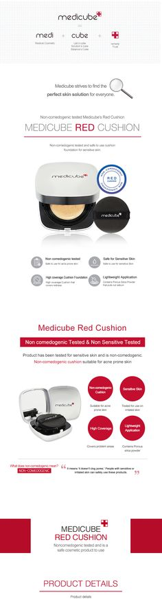 Red Cushion is a non-comedogenic tested and safe to use cushion foundation for sensitive skin!
