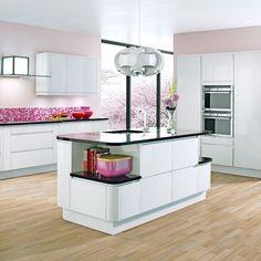 White Kitchen Units Black Worktop splashback | kitchen makeover | pinterest | kitchen black