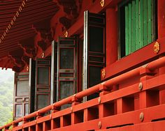 Japanese temple - red doors & windows Windows Architecture, Japanese Tea House, Red Doors, Japanese Temple, Color Splash, Countryside, Asian, Paint Splats