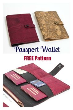 FREE sewing pattern for a handy passport wallet!