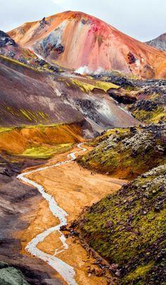 Landmannalaugar Colorful Mountains in Iceland.