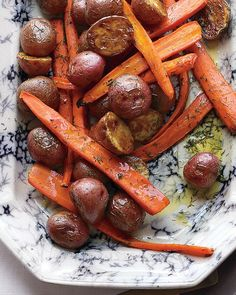 Roasted Carrots and Potatoes with Dill