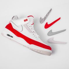 ccd78df6dc5 The Air Jordan III Tinker with removable swooshes is dropping this week 😍  Who's copping?