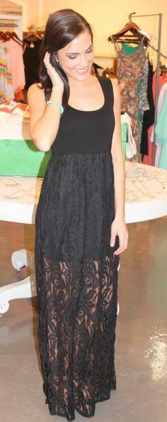 Dottie Couture Boutique - Black Lace Mix Dress $52