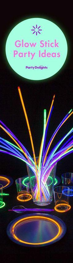 108bc15758 Glow stick party ideas for kids birthdays