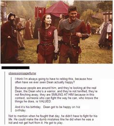 """""""Dean is actually happy on this day :) I can't...the feels..."""" <-- Repinning because of the most amazing tumblr post!:"""
