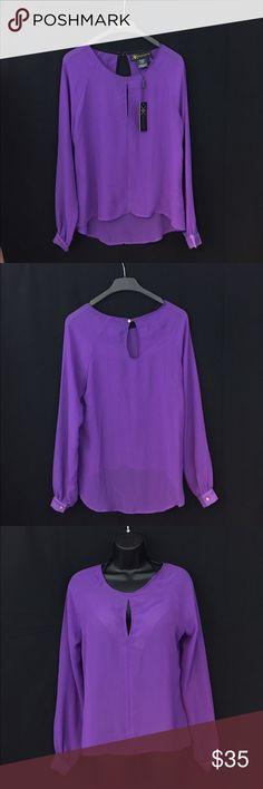 🆕😍 Kardashian kollection purple sheer blouse 🆕😍 Kardashian kollection regab split purple sheer blouse. NC53(l), NC59(xs) Kardashian Kollection Tops Blouses