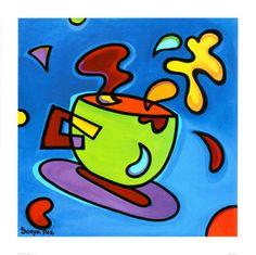 Green Coffee Mug Kitchen Pop Art Prints