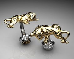 https://flic.kr/p/bHKBxx | Unique Cufflinks Lion Cufflinks Sterling Silver and Gold with White Gems By Proclamation Jewelry | Proclaim your style with our stunningly unique cufflinks! All of our designs are made from the finest sterling silver and pioneer new trends in mens fine jewelry. Spice up your daily ensemble with one of our bold designs or select a piece to add your statement on a special occasion. Our cufflinks are handcrafted in the USA with pride.