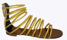 Giuseppe Zanotti gold gladiator sandals
