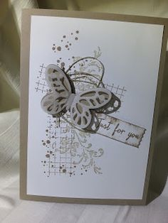 Schmetterling in Taupe, stampin up, Karte