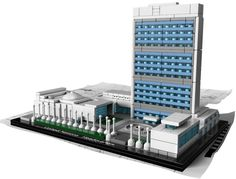 LEGO Architecture United Nations Headquarters - I want this. It's pretty cool!