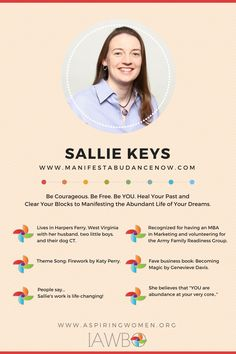 Sallie Keys is a healer, a pioneer, and a provider and teacher of spiritual truth and healing wisdom. Harpers Ferry, Abundant Life, To Manifest, Healer, Abundance, Sally, Dreaming Of You, Keys, Spirituality
