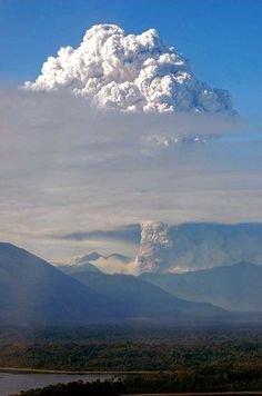 Winds carried the ash of the Chaiten Volcano eruption to other towns in the region and across the Andes to Argentina