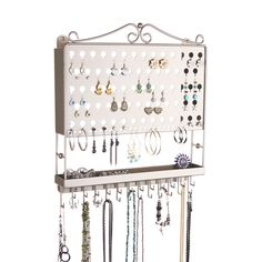 Wall Earring Holder Necklace Rack Jewelry Closet Organizer wTray Accessory Angel Satin Nickel Silver -- Learn more by visiting the image link. Diy Jewelry Rack, Jewelry Closet, Wood Jewelry Display, Diy Jewelry To Sell, Wall Mount Jewelry Organizer, Necklace Storage, Jewelry Display Stands, Jewelry Stand, Jewelry Holder
