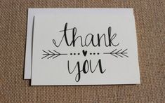 Thank You Cards with Envelopes / Wedding / Shower / Engagement / Set of 10 - Handlettering - Cute Cards, Diy Cards, Your Cards, Karten Diy, Wedding Stationery, Wedding Card, Post Wedding, Thank You Cards, Thank You Font