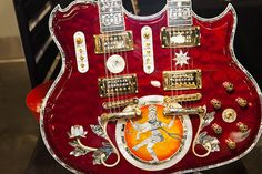 double neck guitar | customized Minarik Lotus Double Neck Guitar