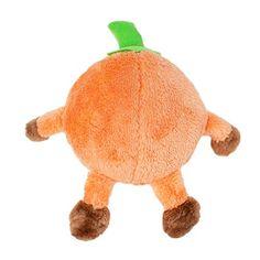 ZippyPaws Halloween Brainey Pumpkin - Squeaky Plush Dog Toy