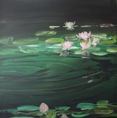 "Saatchi Online Artist Roswitha Schablauer; Painting, ""Seerosenteich"" #art Saatchi Online, Fairy Tales, Saatchi Art, Art Prints, Canvas, Artist, Landscapes, Painting, Lily Pond"