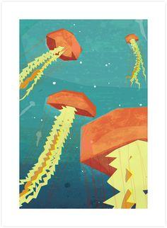 Jellyfish 2 - Poolga Prints