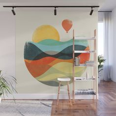 Design your everyday with removable wall murals you'll love. Wall Painting Decor, Mural Wall Art, Wall Decor, Bedroom Murals, Bedroom Wall, Mural Cafe, Paint Designs, Diy Wall, Wall Design