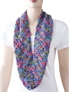 """A stylish cowl scarf adds the perfect finishing touch to any outfit! These 2 easy scarves use light worsted or sport cotton yarn and are crocheted flat and sewn together. One measures 30"""" around and the other 44"""". Designs by Sue ChildressSkill Level: Easy"""
