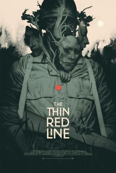 The Thin Red Line Movie Poster Mondotees by Joao Raus