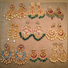 What should this post be called? Earring Paradise Swipe to see all these beautiful earrings in detail and comment the number below to place your enquires Indian Wedding Jewelry, Bridal Jewelry, Indian Bridal, Indian Earrings, Women's Earrings, Bridal Jewellery Inspiration, Bride Necklace, Cleaning Silver Jewelry, Gold Earrings Designs