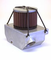 Free flowing air filter and airbox.