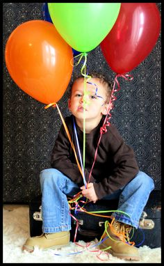 Little boy birthday photo