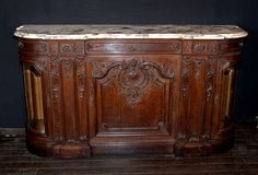 Belle Epoch marble top buffet - to use as a bar in the dining room.