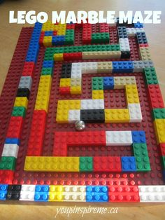 Lego Marble Maze | You Pinspire Me Great for older preschoolers- make their own marble maze