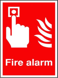 Fire alarm sign.  Beaverswood - Identification Solutions