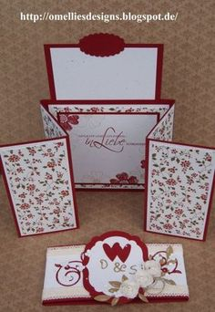 Stampin UP , Hochzeitskarte,  Z-Gate-Tag Fold Card, Wedding Card , Chili