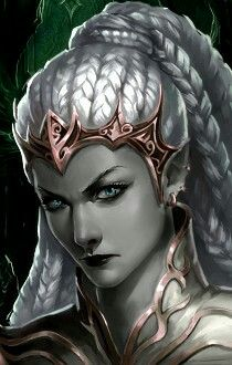 f Drow Elf Cleric Noble portrait
