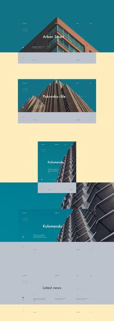 Arban — web on Behance Website Layout, Web Layout, Layout Design, Website Ideas, Homepage Design, Site Design, Design Design, Pag Web, Design Presentation