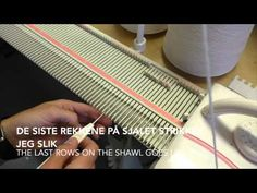 Flettesjal - Shawl / Silver Reed LK150 - YouTube