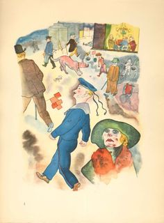 Grosz, George. 1923. Ecce homo. Berlin: Der Malik-verlag. Watercolor Reproduction 1. RB NC251.G66 E17 1923