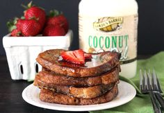 Coconut Oil French Toast is easy, delicious, and the perfect breakfast!. Replace butter with Golden Barrel Coconut Oil.
