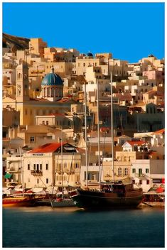 Ermoupoli, Syros Island, Greece ~ ~ Can you tell I Love Greece?~ it's here and on Global Architecture ~ Places Around The World, The Places Youll Go, Travel Around The World, Places To See, Around The Worlds, Albania, Dream Vacations, Vacation Spots, Wonderful Places