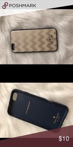 Kate spade iPhone 6/6S case Chevron Kate spade iPhone 6/6S case a little bit dirty and scratched from everyday wear but still really cute and affordable! kate spade Accessories Phone Cases