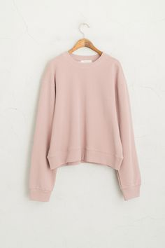 Simple Man-to-Man Sweatshirt, Pink Olive Clothing, Simple Man, Mens Sweatshirts, Bell Sleeve Top, Pink, Clothes, Collection, Tops, Women