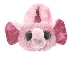 cacdfe22a5a Ty Beanie Boos Little Girls  Slipper Socks (ELLIE Pink Speckled Elephant
