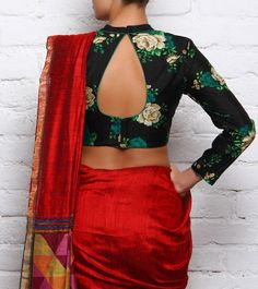 At Divya Kanakia Designs, the label is passionate about Indian hand embroidery and the vintage Indian aesthetic. Sari Blouse Designs, Saree Blouse Patterns, Designer Blouse Patterns, Bridal Blouse Designs, Saree Jackets, Indian Wear, Indian Blouse, Indian Sarees, Desi Clothes